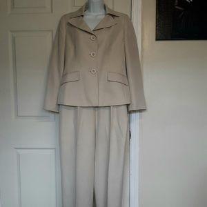 Le Suit Tan Pant Suit